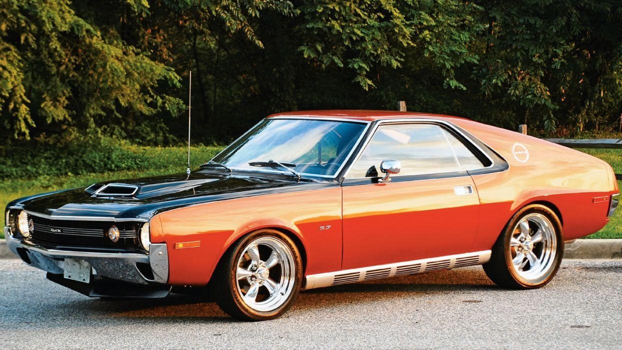 1970 Black Copper AMC AMX wallpaper