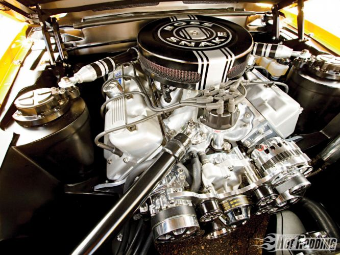 1970 ford mustang engine wallpaper