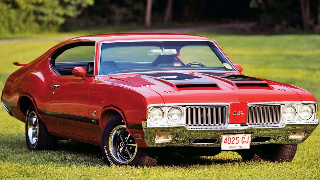 1970 Red Oldsmobile442 W30 wallpaper