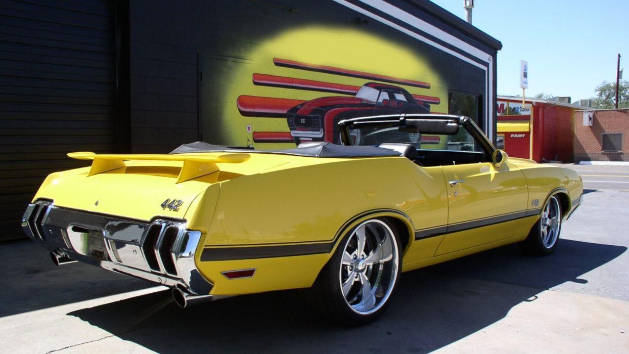 1970 Yellow Oldsmobile 442 Convertible wallpaper