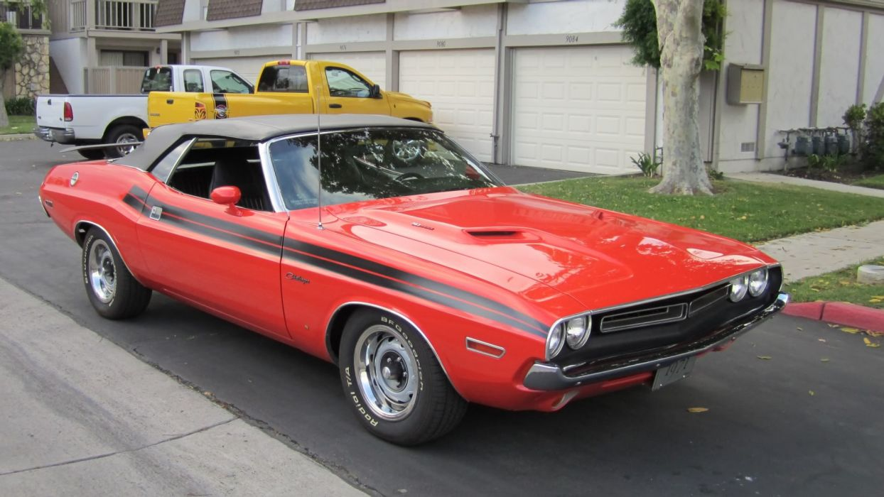 1971 Red Dodge Challenger 383 Convertible wallpaper