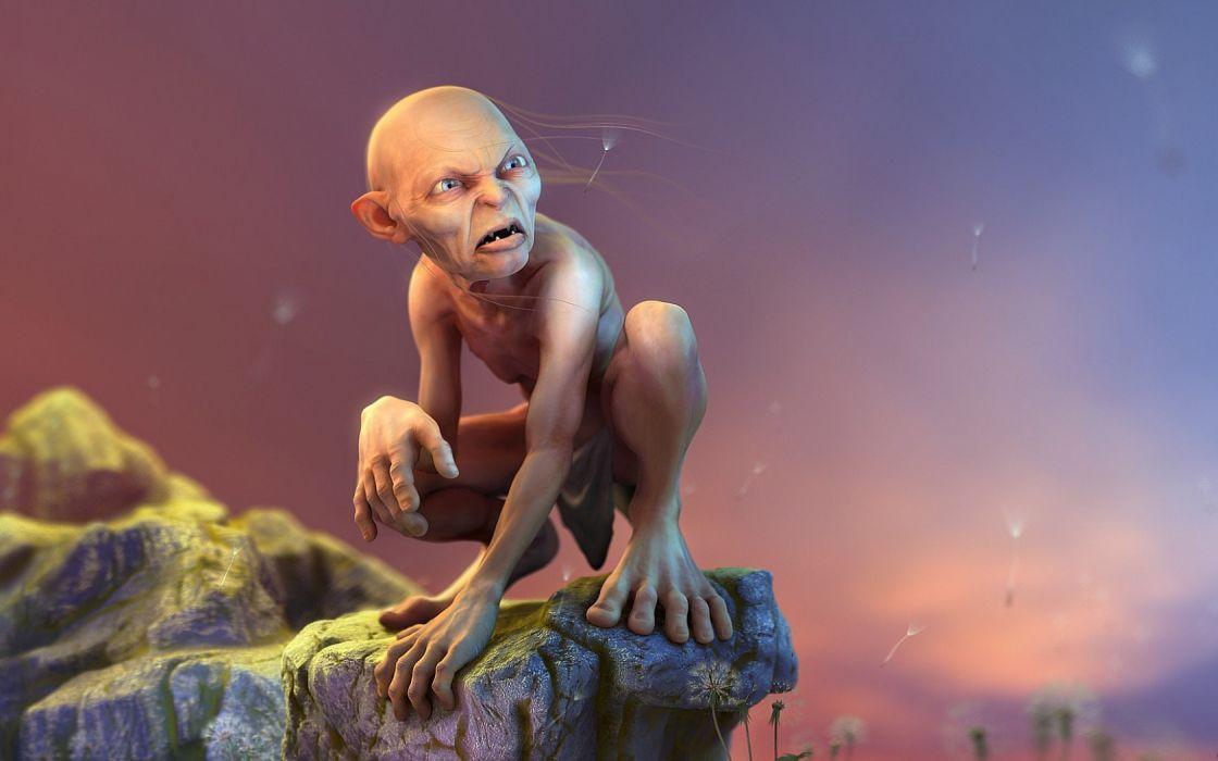 lord of the rings Gollum fantasy hobbit wallpaper