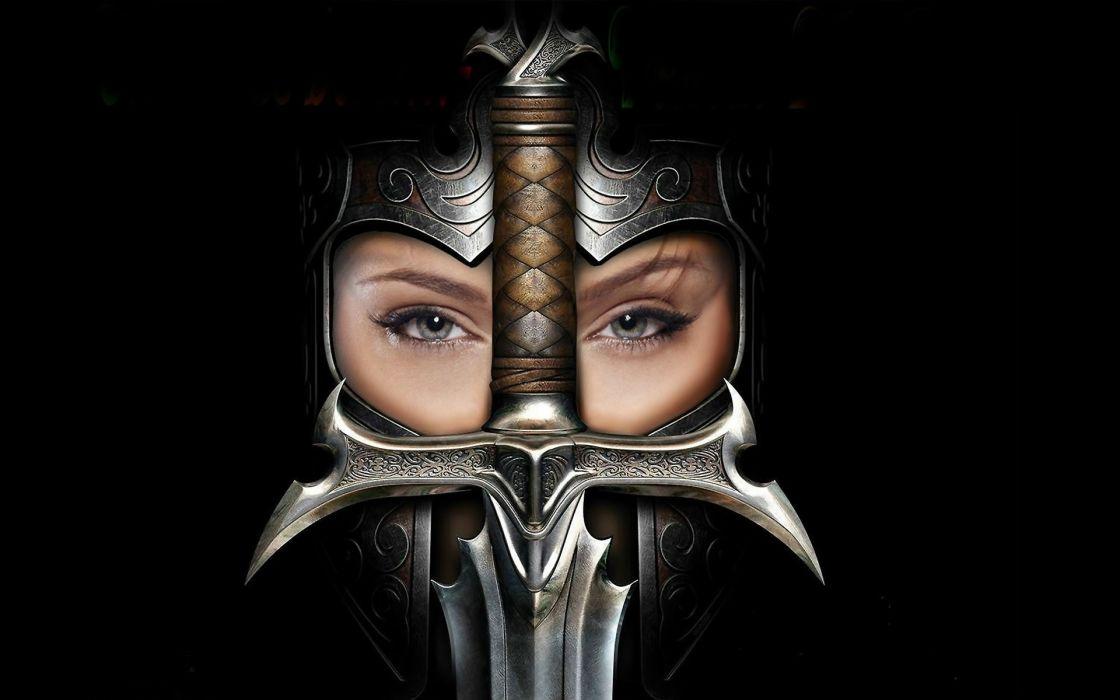WOMAN KNIGHT fantasy sword wallpaper