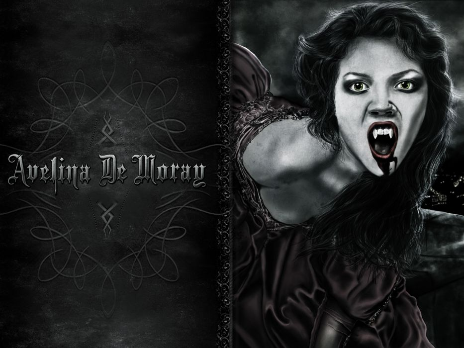 Avelina De Moray dark horror vampire wallpaper
