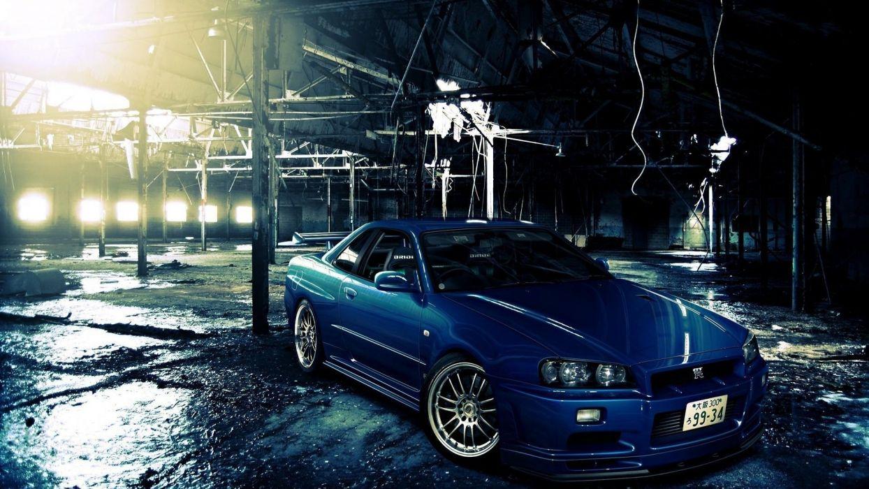 Nissan Skyline R34 GT-R tuning wallpaper