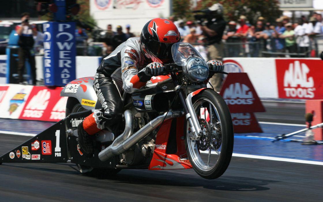 Harley Davidson drag racing wallpaper