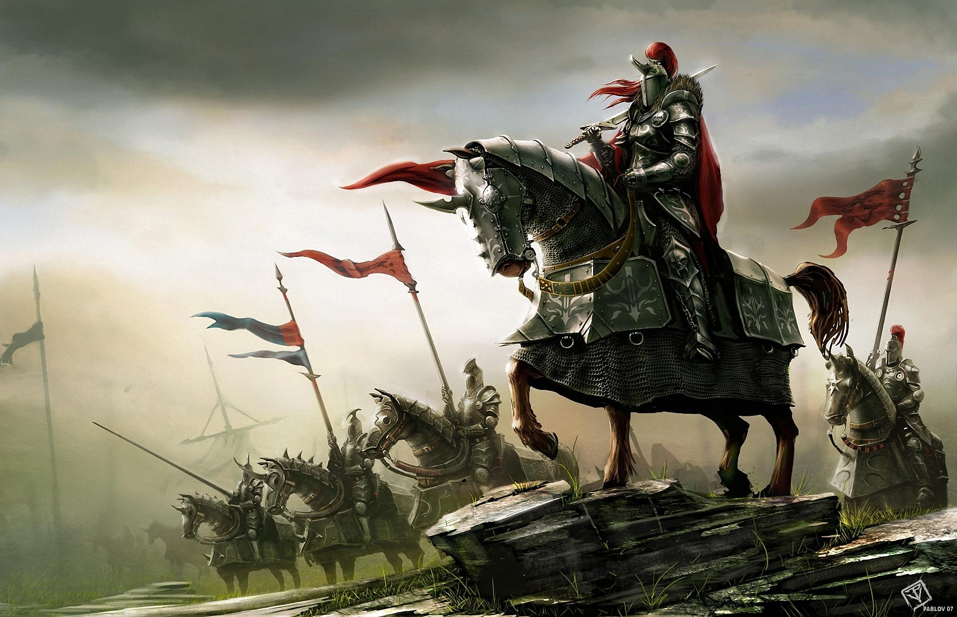 Knight On Horse Wallpaper