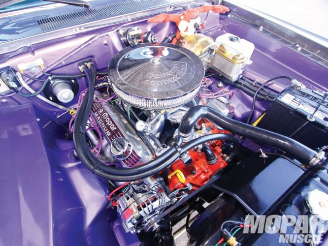 1971 Dodge Demon Engine muscle hot rod wallpaper