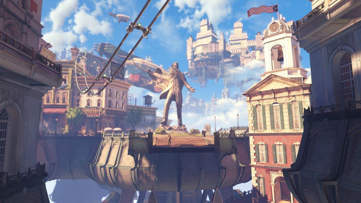 Bioshock Infinite Steampunk sci fi fantasy wallpaper