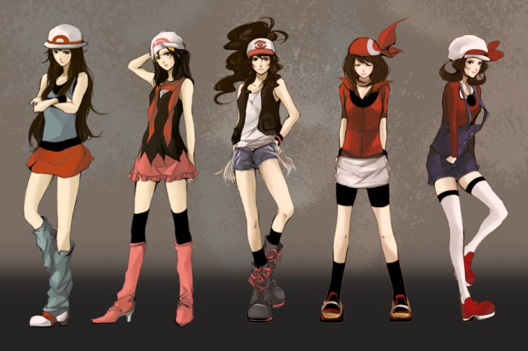pokemon anime girls style sexy babes clothes fashion glamour women art wallpaper