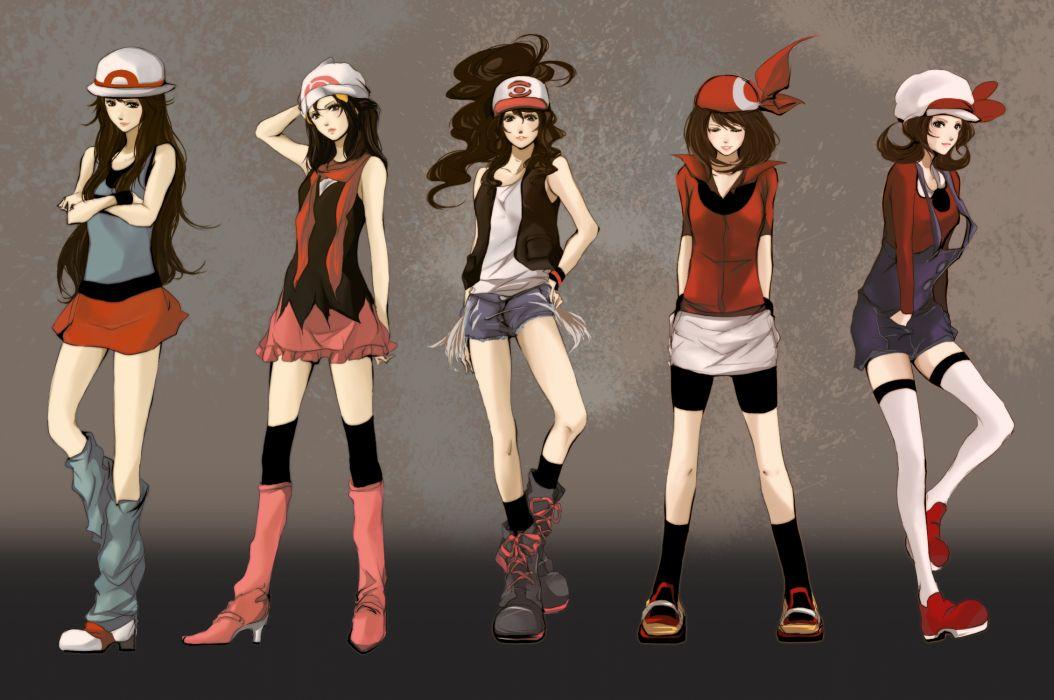 pokemon anime girls style sexy babes clothes fashion glamour women art wallpaper