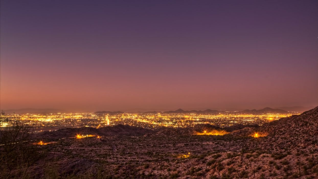 night lights desert mexico landscapes hdr cities sky sunset wallpaper