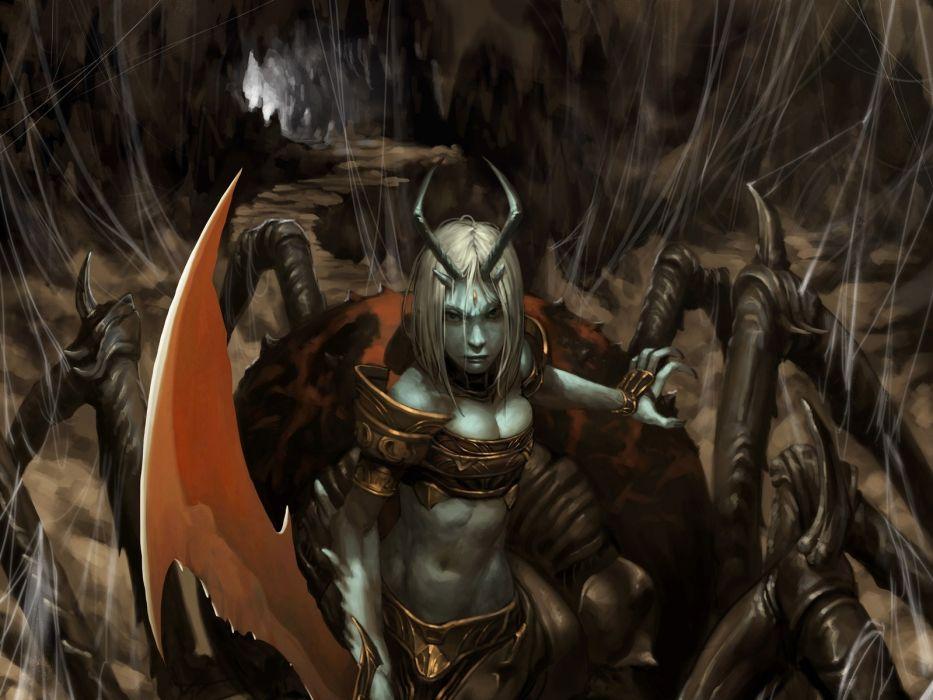 1 fantasy art artwork warriors sword girls dark wallpaper