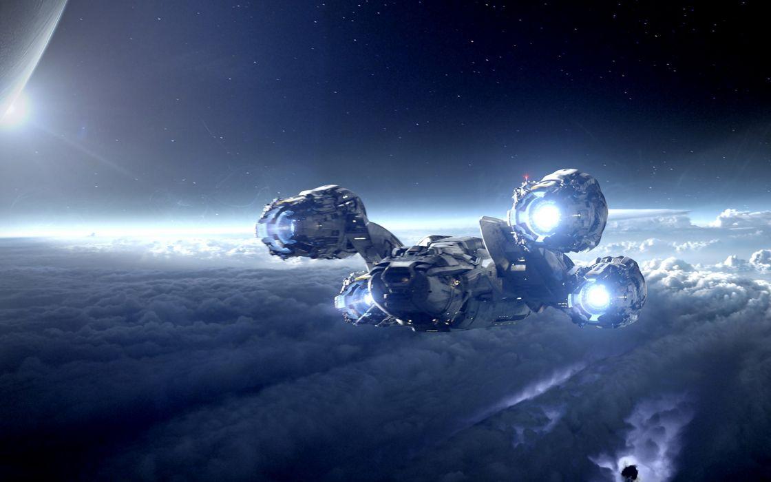 1 Prometheus sci fi science futuristic space sky stars 3d cg digital art wallpaper