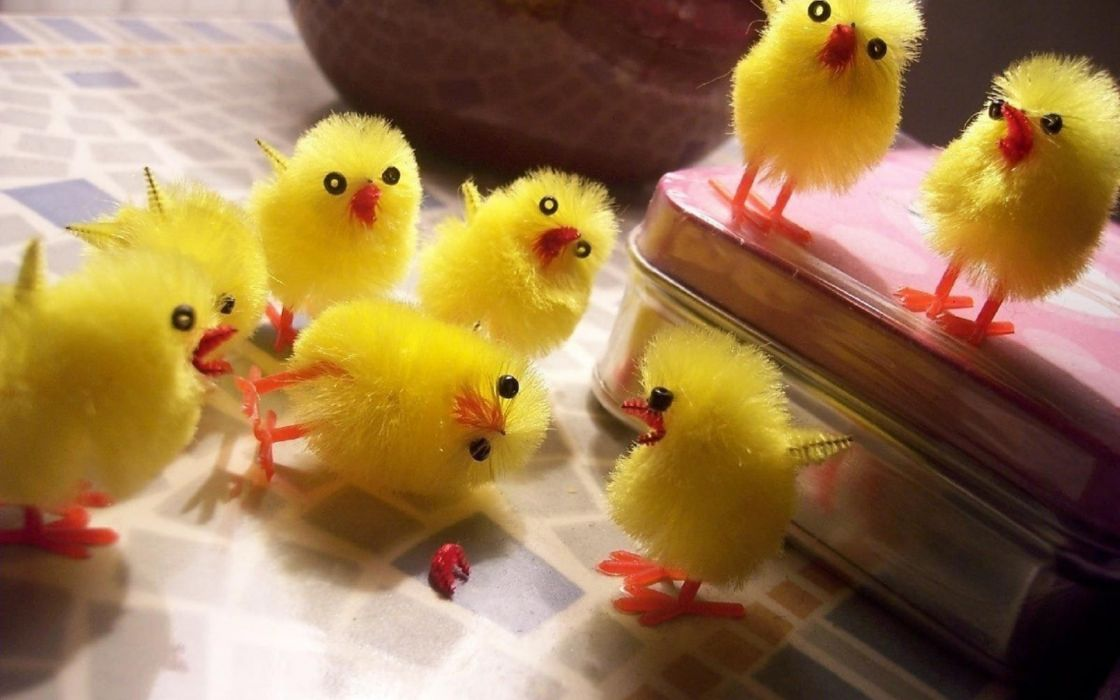 1 a chicks birds cute toys chickens easter humor wallpaper