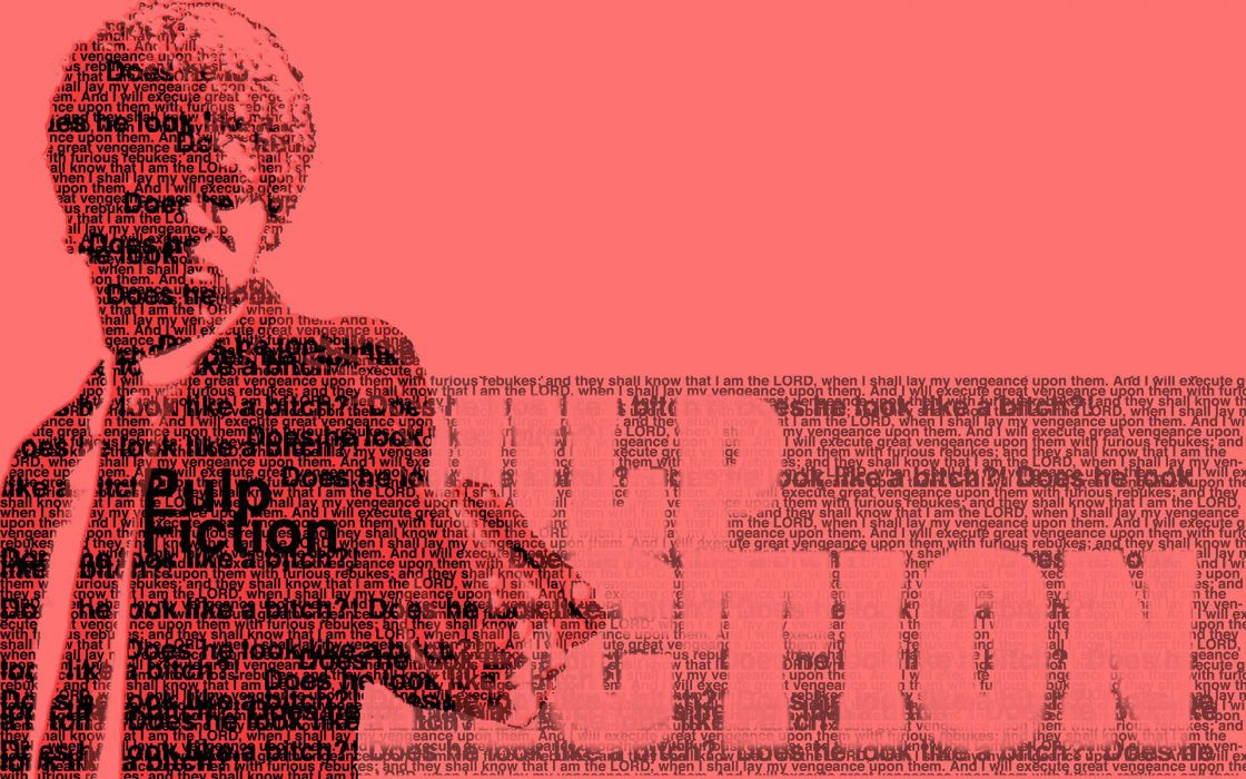 1 Pulp Fiction Typography weapons hundguns pistol text wallpaper