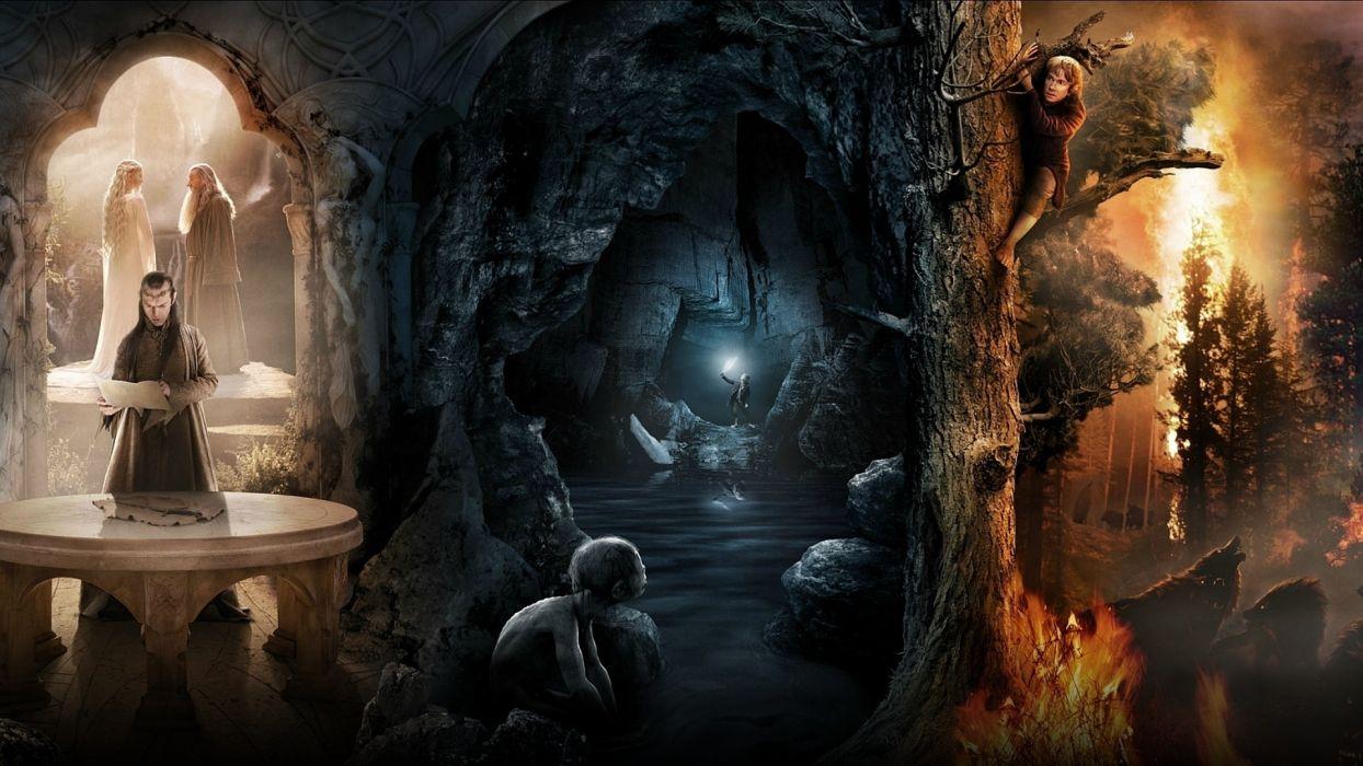 1 The Hobbit an unexpected journey fantasy elf dark wallpaper