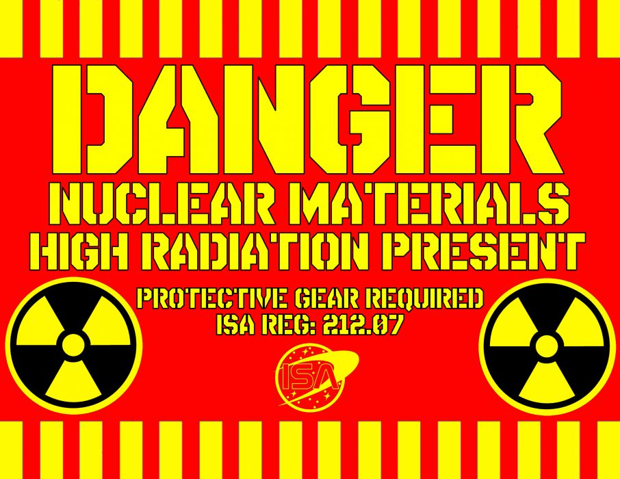 dark sign nuclear radiation danger text wallpaper