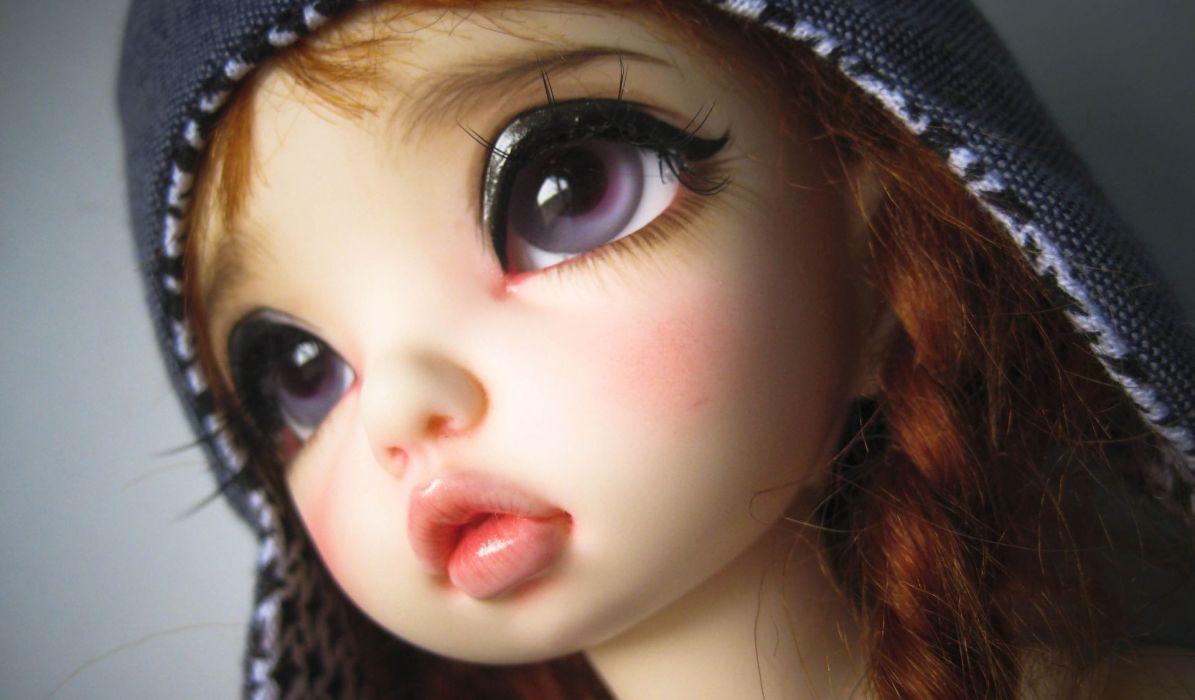 toys doll girls women face eyes lips anime redheads wallpaper