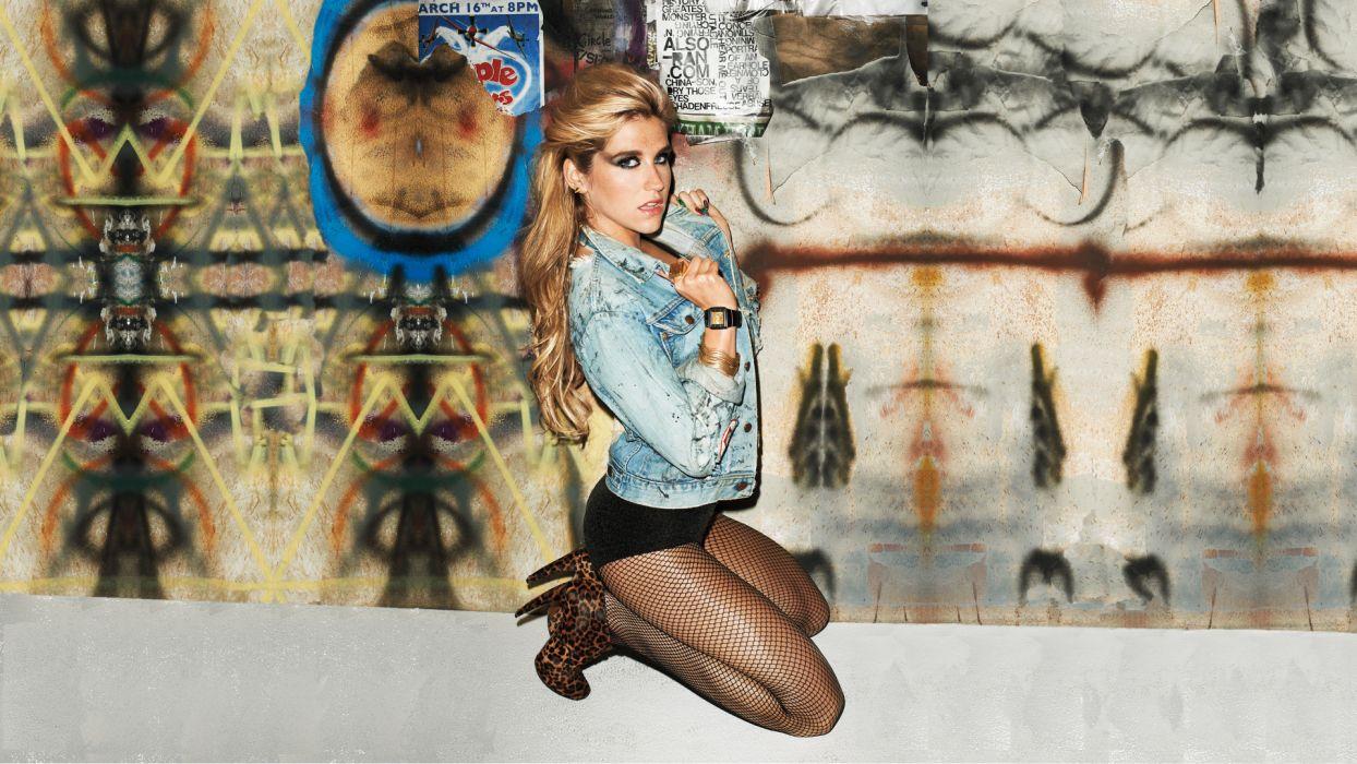 Kesha Blonde Stockings Leggings women models sexy babes blondes wallpaper