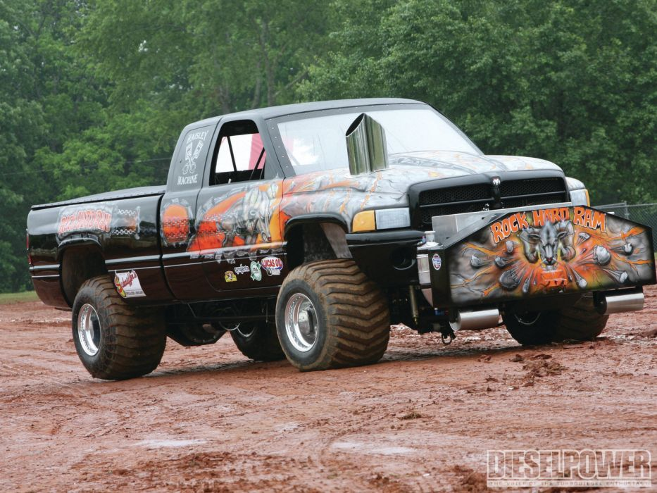 Dodge pickup mudding trees trucks wallpaper
