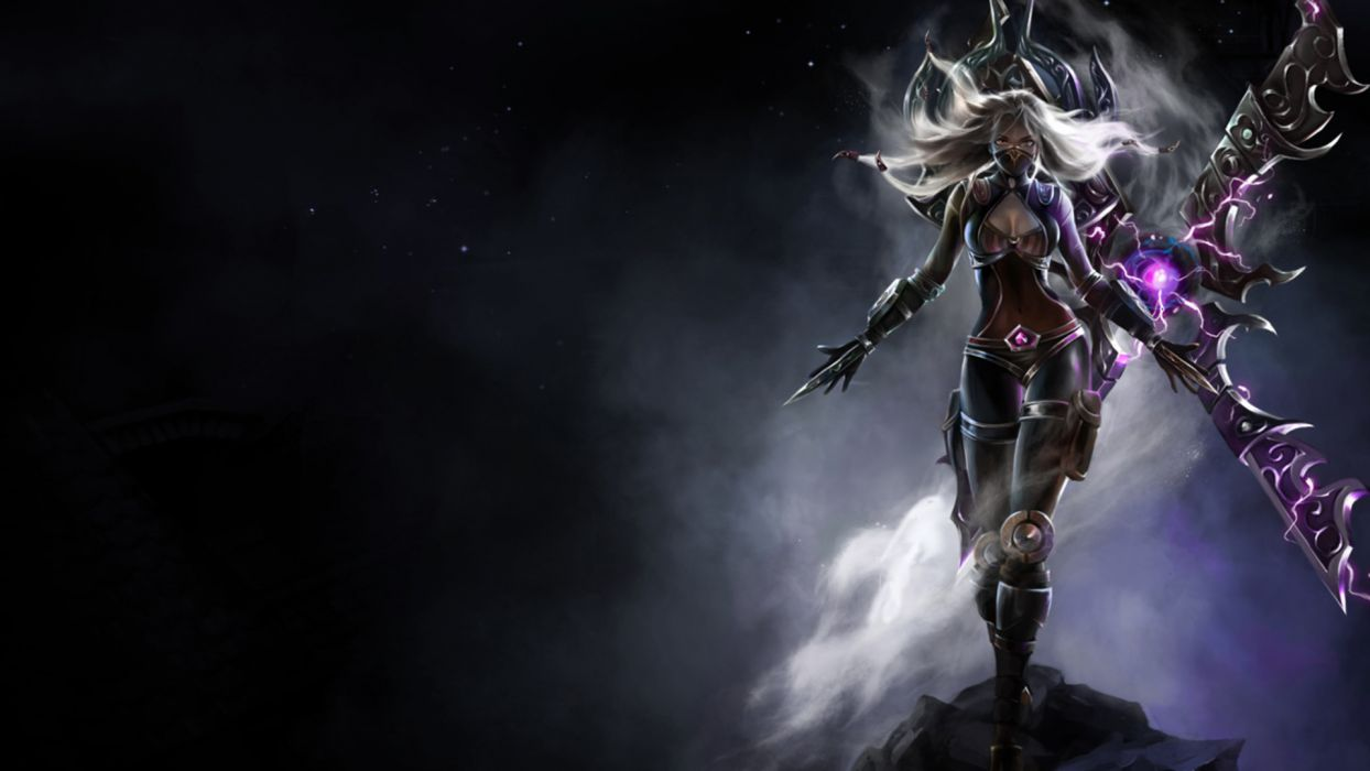 League of Legends fantasy girl video games wallpaper