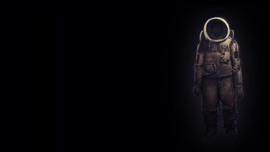 sci fi science astronaut dark spooky creepy wallpaper