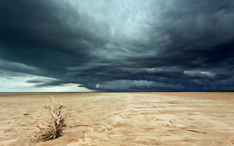 landscapes sky clouds storm rain wallpaper