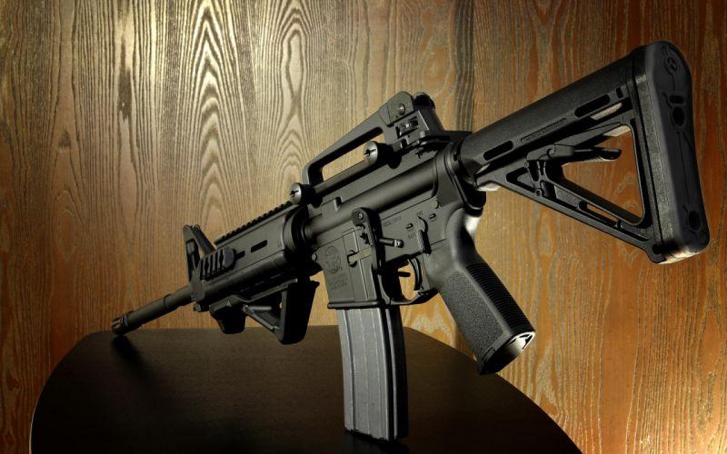 M4a weapons guns assault rifles military wallpaper