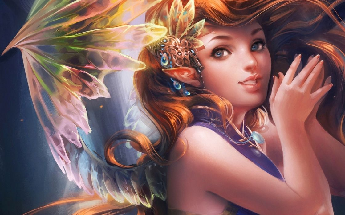 original fantasy girl women elf babes fairy wallpaper
