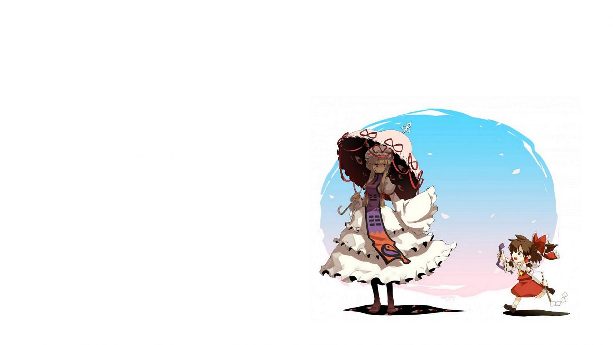 Anime White Touhou Project girl wallpaper
