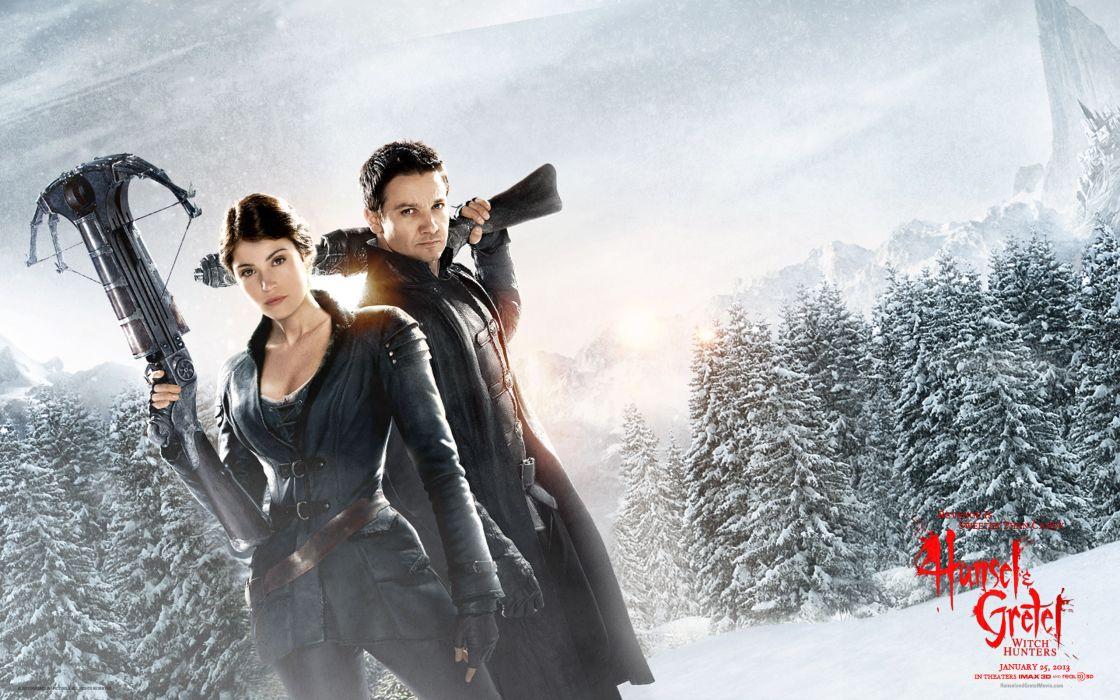 Hansel & Gretel Witch Hunters weapons fantasy winter wallpaper