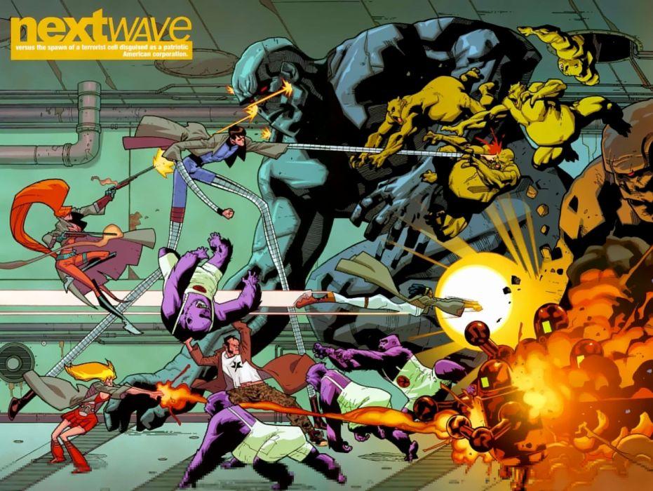 comic next wave wallpaper