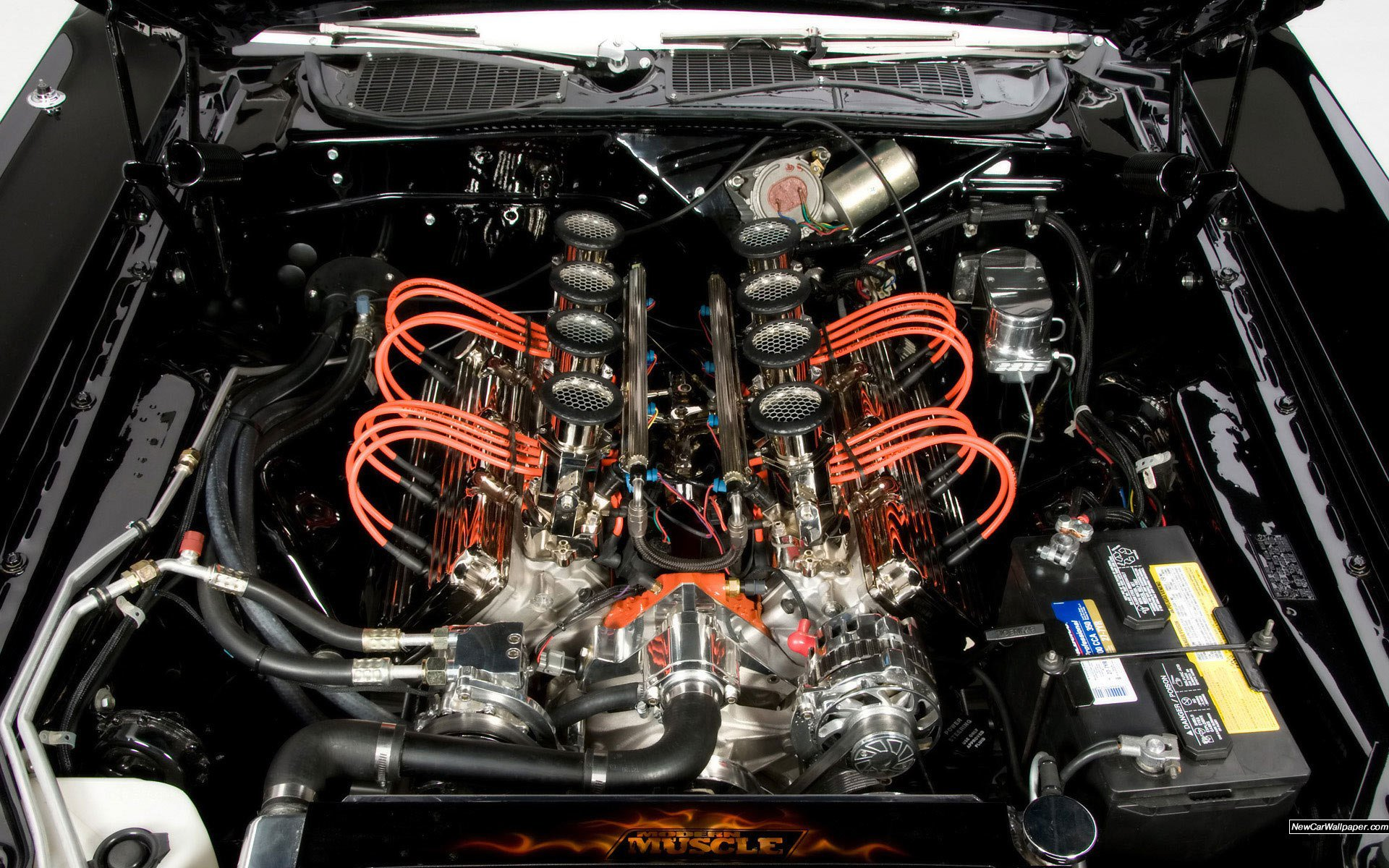 Dodge Challenger Engine Hot Rod Muscle Cars Wallpaper