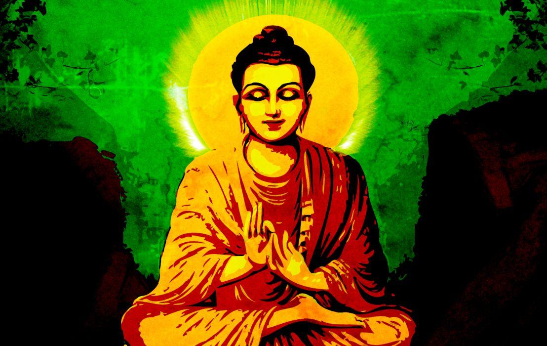 religion art Buddha wallpaper