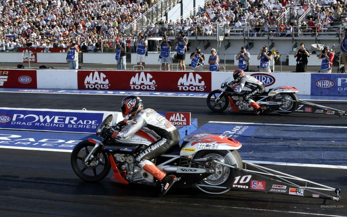 Harley Davidson Screamin Eagle NHRA Drag Racing wallpaper