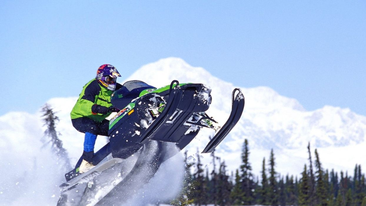 Extreme snowmobile sports winter  wallpaper