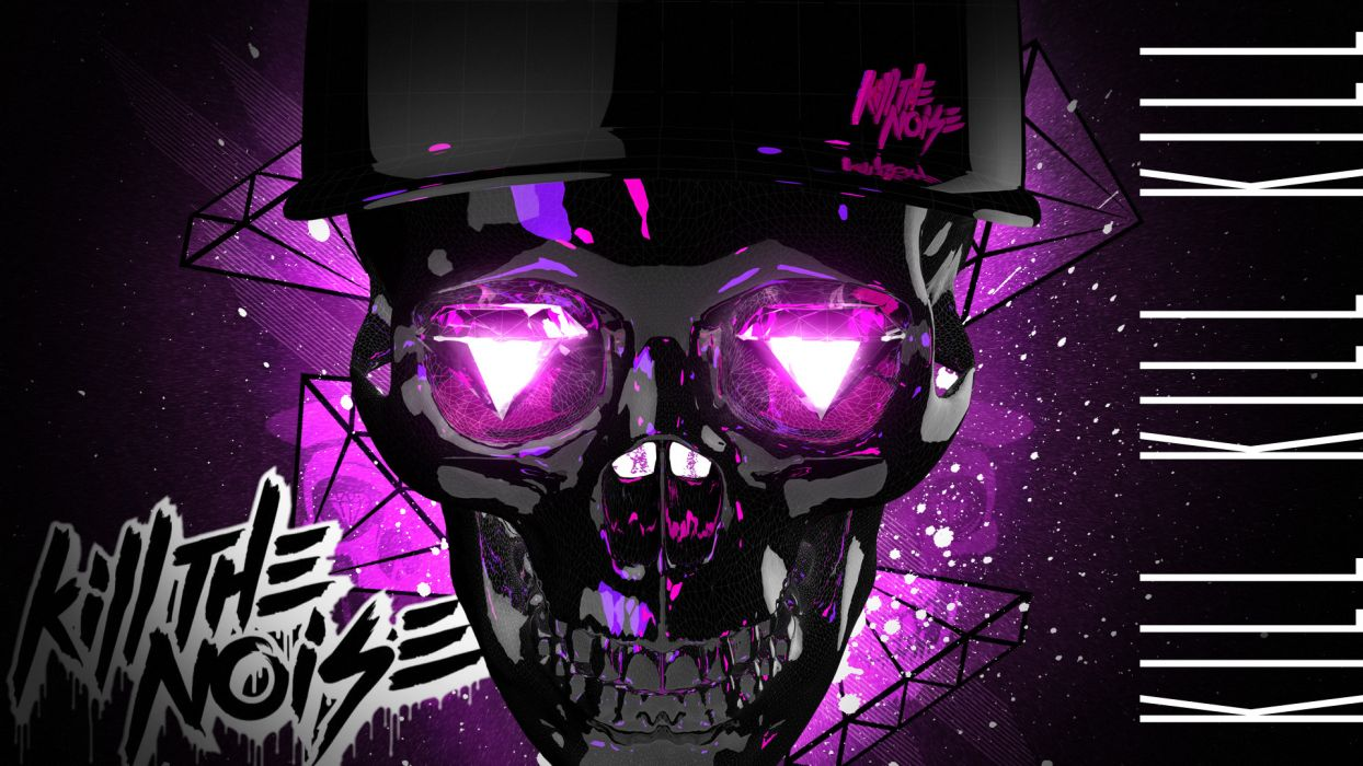 Kill the Noize dark skulls wallpaper