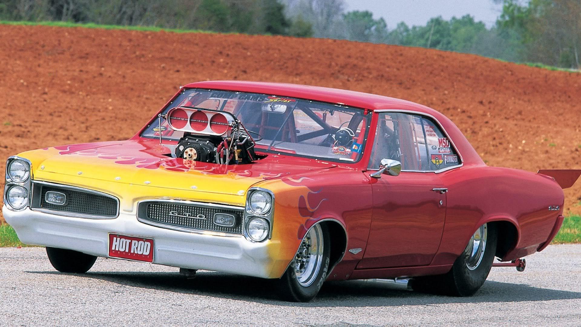 Pontiac Gto Drag Racing Hot Rod Muscle Cars Engine Blown
