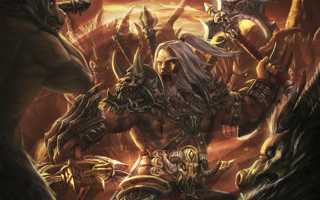 Diablo 3 warriors fantasy wallpaper