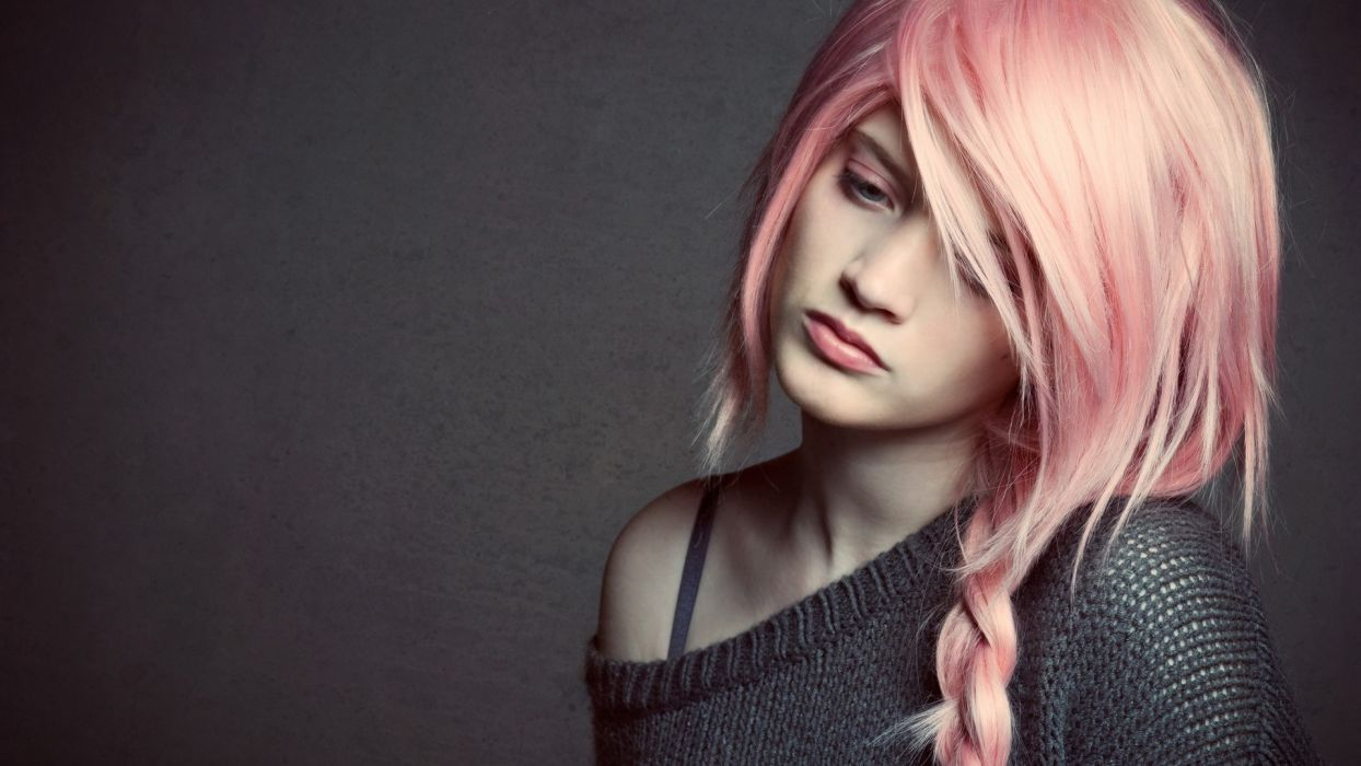 punk glam women mood models pink babes wallpaper