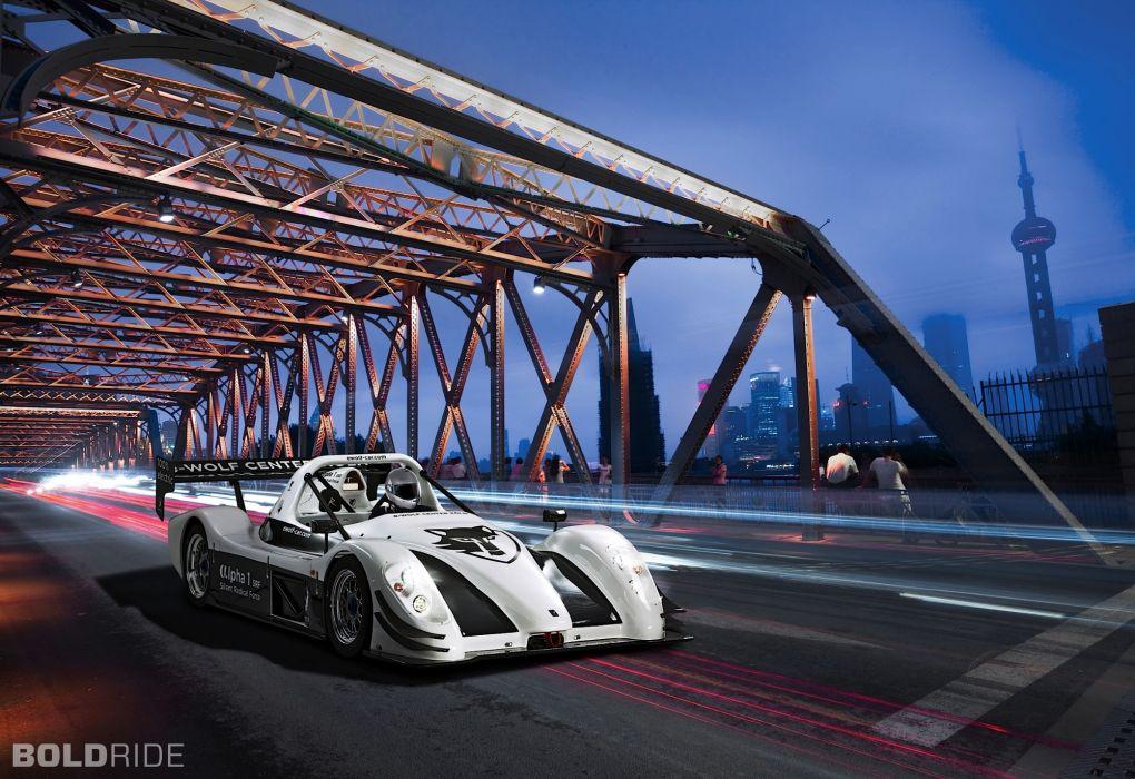 Wolf Alpha-1 SRF racing race cars bridges cities wallpaper
