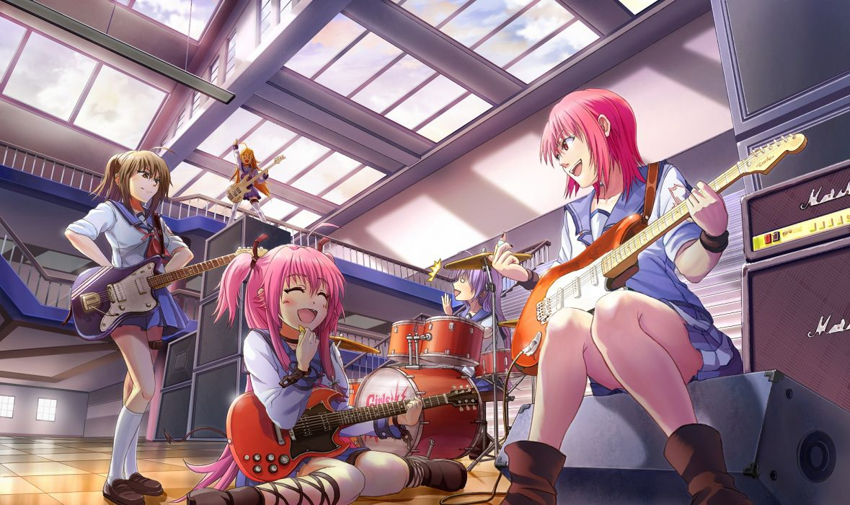 angel beats! girls guitars wallpaper