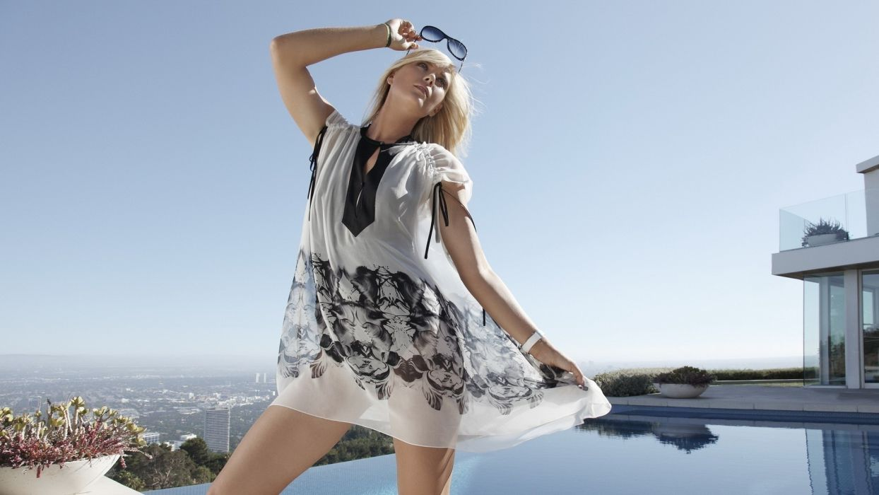 Maria Sharapova sports tennis fashion glamour glasses models blondes sexy babes wallpaper