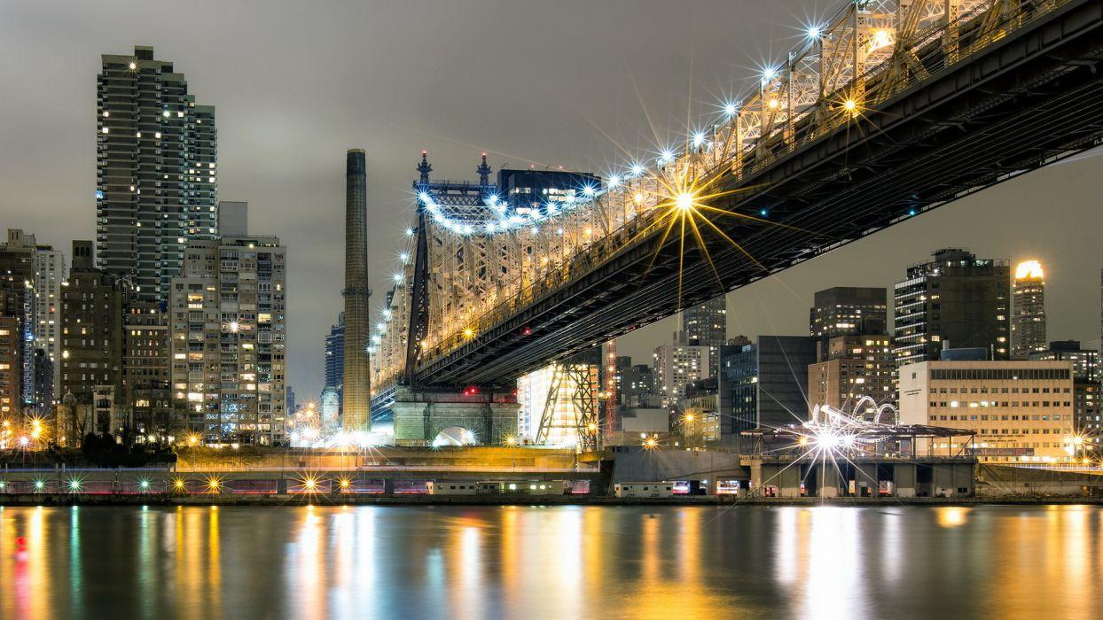 bridges cities rivers reflection wallpaper