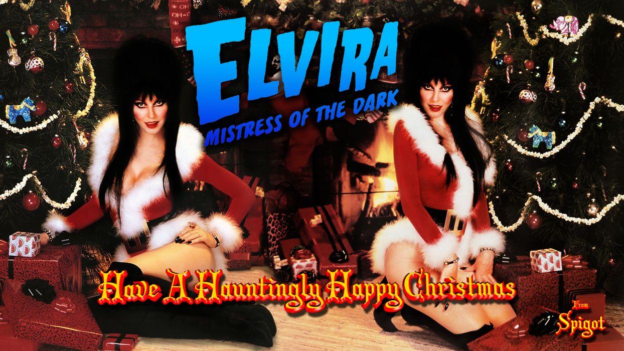 elvira mistress sexy babes tv series wallpaper