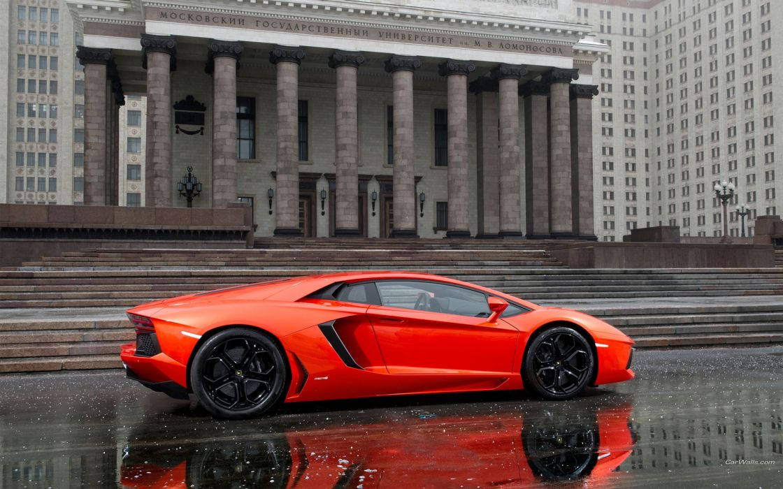 2012 Lamborghini Aventador LP700-4 supercars rain wallpaper