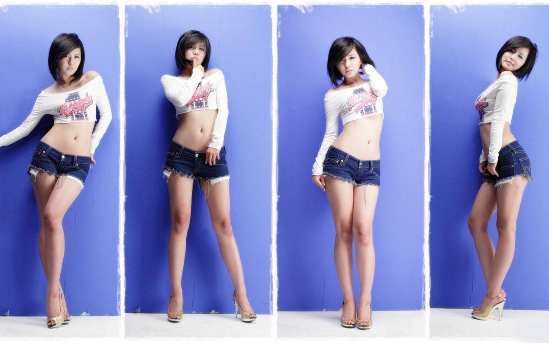 Ryu Ji Hye cute Korean women cosplay models brunettes sexy babes asian oriental wallpaper