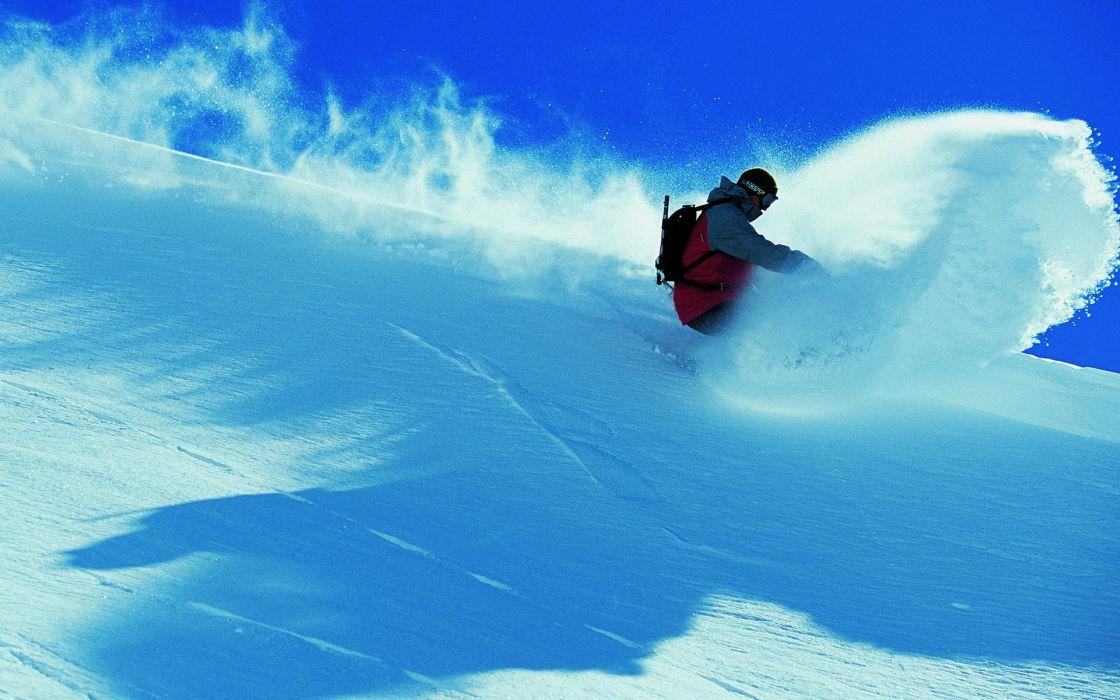 snowboarding winter mountains snow spray extreme people wallpaper