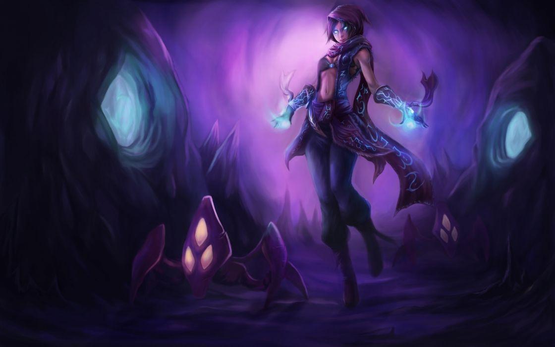 League Of Legends fantasy girl wallpaper